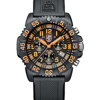 Luminox Navy Seal Colormark Chronograph Watch - Black/Orange