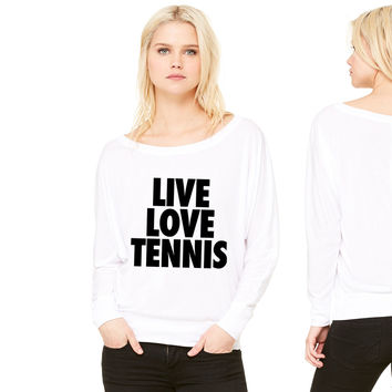 Live Love Tennis women's long sleeve tee