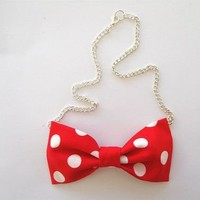 Love What's Missing | Minnie Bowtie Necklace | Online Store Powered by Storenvy