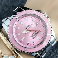 Rolex High Quality Fashion Casual Woman Men Submariner Stainless Steel 40mm