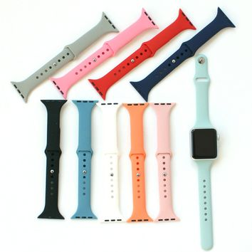 Slim Apple Watch Bands   Skinny Silicone Apple Bands