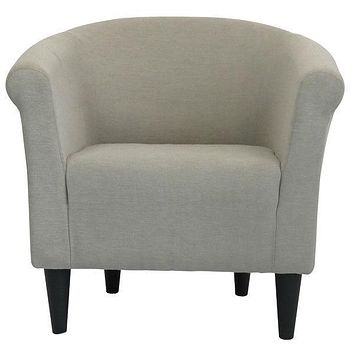 Modern Classic Accent Arm Chair Taupe Upholstered Club Chair