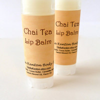 Chai Tea Vegan Lip Balm, Cafe Lips, Chapstick