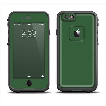 The Solid Hunter Green Apple iPhone 6 LifeProof Fre Case Skin Set