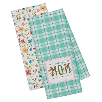 Thank You Mom Garden Dish Towel (Set of 2)
