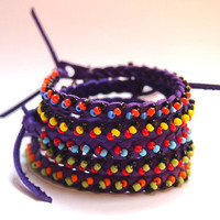 "PURPLE #friendship #bracelet ""Friend with Small Home"": handmade bracelets with beads! #friendshipbracelets #fashion"