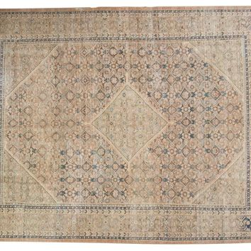 9.5x12.5 Vintage Distressed Mahal Carpet