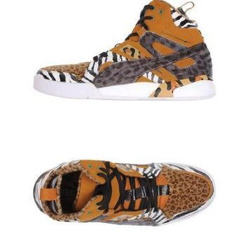 PUMA SLIPSTREAM HIGH TOP ANIMAL PRINT SNEAKERS