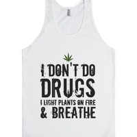Marijuana Is A Plant-Unisex White Tank