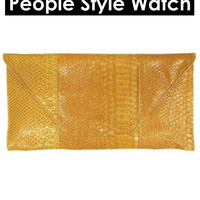 Faux Crocodile Clutch Purse Bag