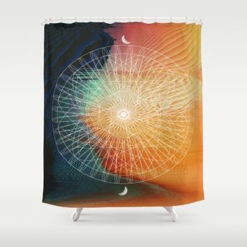 Good Life Shower Curtain by Ducky B