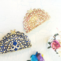 Peacock Minaudiere Evening Clutch Wedding Purse