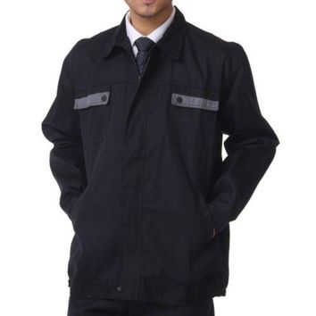 Working Protective Gear Uniform Suit Canvas Garage grey pocket top clothes   170