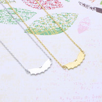bat  necklace in  silver or gold tone