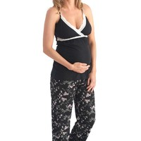 Belabumbum Reika Maternity Nursing Pajama Pants And Cami Set