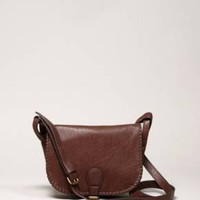 AE whipstitched satchel