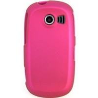 Hard Snap-on Shield PINK ROSE RUBBERIZED Faceplate Cover Sleeve Case for SAMSUNG A927 FLIGHT 2 (AT&T) [WCS634]