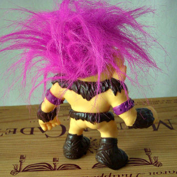 Vintage Troll Doll, Hot Pink Hair, 1992 Hasbro Cyclops 5 Inch Battle Troll, Monster Troll, Toy Action Figure, Troll for Boys, Hasbro Troll
