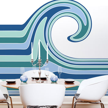 Wall Mural Decal Sticker Gillian Ocean Wave Color #MCrespo134