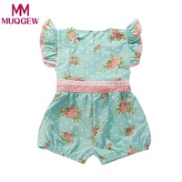 2018 new Baby Girl Rompers Summer Girls Clothing Flower Rompers Newborn Baby Clothes Cute Baby Jumpsuits Infant Girls Clothing