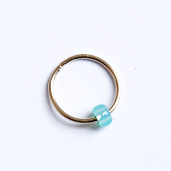 Helix earring - Cartilage earring - Tragus piercing - Turquoise piercing  - nose hoop - nose ring