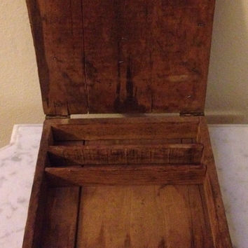 Antique School Box / Book Box / Antique Desk