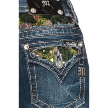 Miss Me Camo Sequin Camouflage Inlay Jeans - Sheplers