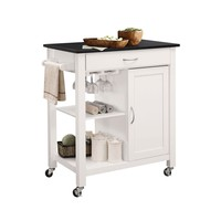 Ottawa Black & White Kitchen Cart