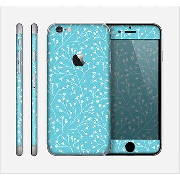 The Blue and White Twig Pattern Skin for the Apple iPhone 6