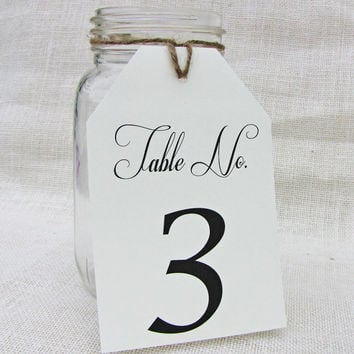 Tag Wedding Party Reception Table Numbers