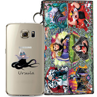 Disney's Villains (Ursula) Jelly Clear Case For Samsung Galaxy S7 + Pouch