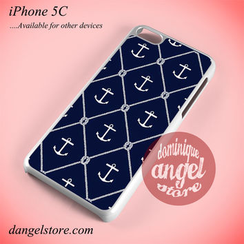 Anchor In Dark Blue Phone case for iPhone 5C and another iPhone devices