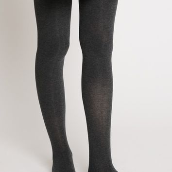 Autumn Leaves Tight High Socks In Grey | Ruche