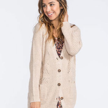 FULL TILT Cable Knit Womens Cardigan 248369413 | Cardigans & Wraps