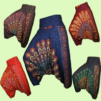 Harem Pants , Aladdin Pants , Yoga Pants , Boho Pants , Baggy pants , Hippie Gypsy pants , One size