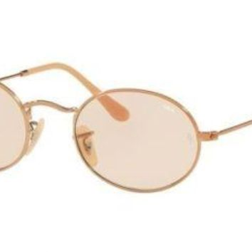 Ray-Ban RB3547N OVAL 9131S0 Copper Sunglasses