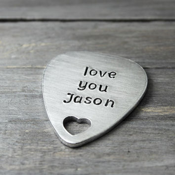 Personalized Stamped Guitar Pick, Personalized Guitar Pick, Personalized Gift Idea, Personalized Guitar Gifts