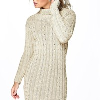 Lottie Cable Knit Jumper Dress