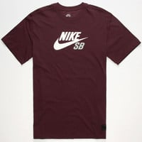 Nike Sb Icon Dri-Fit Mens T-Shirt Burgundy  In Sizes