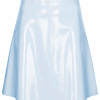 Patent Leather Flippy Skirt