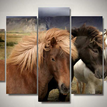 Friends Horses 5-Piece Wall Art Canvas