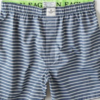 AEO Men's Striped Chambray Boxer (Twilight Blue)