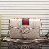 UCANUJ3V Gucci Women Fashion Leather Chain Satchel Shoulder Bag Handbag Crossbody-14