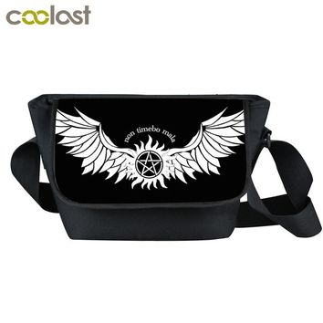 Supernatural Messenger Bag Men Women Travel Bags Demon Hunter Winchester Bros Sam Dean Crossbody Bag Boys Girls Gift Bags