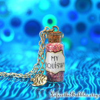 My Squishy, Finding Nemo, Dory, Magical  Bottle & Fish Charm Necklace Disney Pixar Inspired, by Life is the Bubbles
