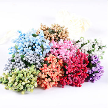 Wedding Bouquet Decoration DIY Flower Handmade Decor Artificial Floral Wedding Flowers Fake Flowers Silk Flower Home Decor Floral Supplies