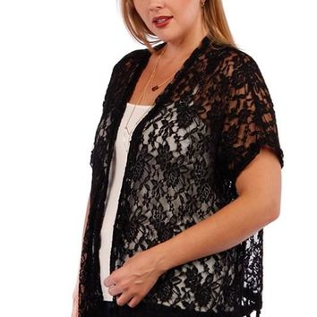Plus Size Lace Cardigan 456