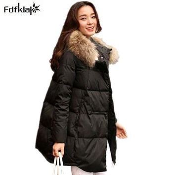 Winter jacket women new winter coat thickening warm female down jacket hooded long women's parkas down coats A298