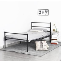Aingoo Structure Stainless steel Single bed Frame Good-looking and modern style Bedroom Furniture Large loading Ability king bed