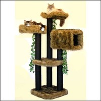 CAT CONDO SALE Cat Furniture Luxury 5' Cat Tower Designer Cat Perche Unique Custom Cat Trees Custom Cat Condos Luxury Cat Beds Free Shipping